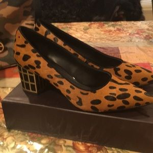 Brian Atwood  leopard shoes